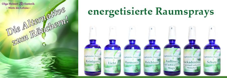 Energetisierte Raumsprays